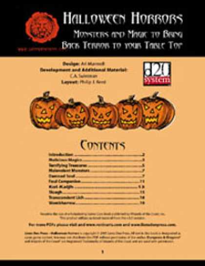 Role Playing Games - Lion's Den Press: Halloween Horrors