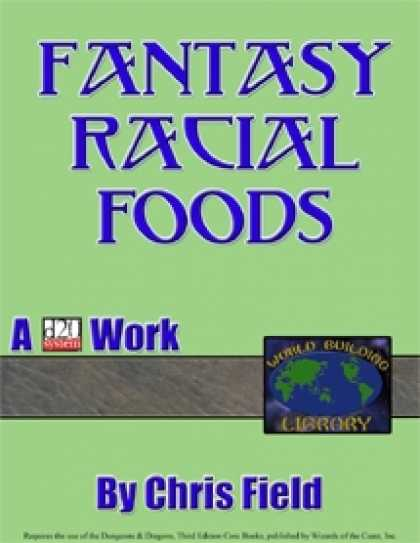 Role Playing Games - World Building Library: Fantasy Racial Foods