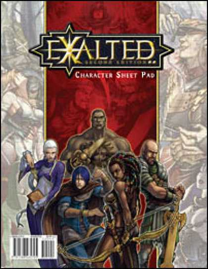 Role Playing Games - Exalted Second Edition: Character Sheet Pad