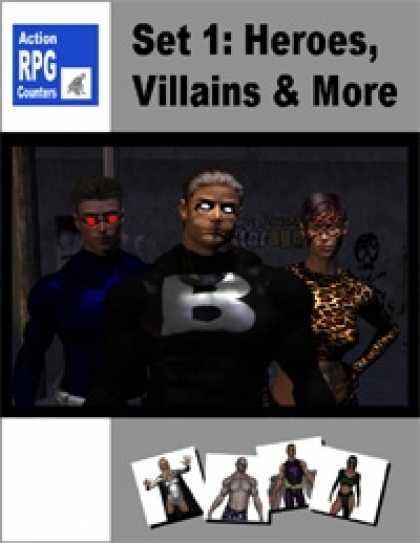 Role Playing Games - Action RPG Counters: Set 1 Heroes, Villains and More