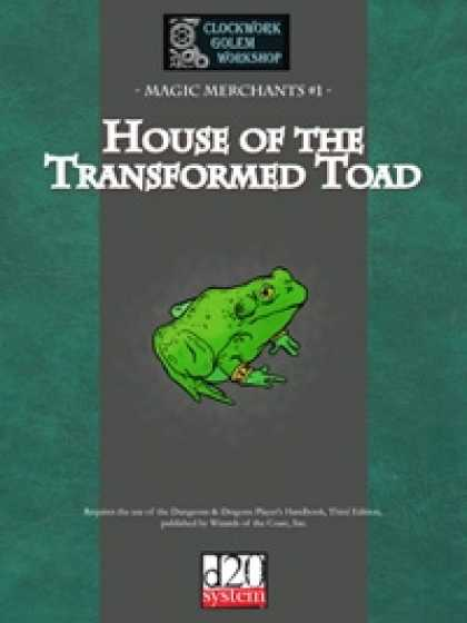 Role Playing Games - Magic Merchants 01: House of the Transformed Toad