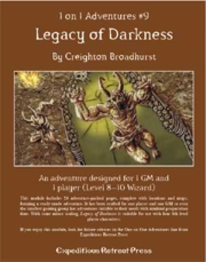 Role Playing Games - 1 on 1 Adventures #9: Legacy of Darkness