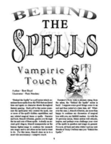 Role Playing Games - Behind the Spells: Vampiric Touch