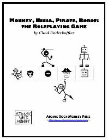 Role Playing Games - Monkey, Ninja, Pirate, Robot: the Roleplaying Game