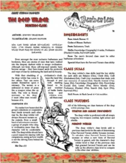 Role Playing Games - OGL Barbarian: The Deep Wilder (Sampler)