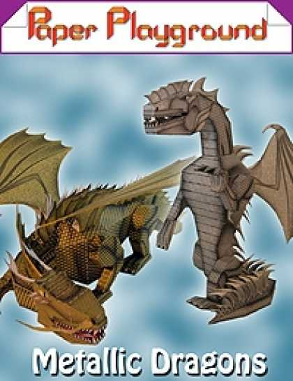 Role Playing Games - Paper Playground - Metallic Dragons