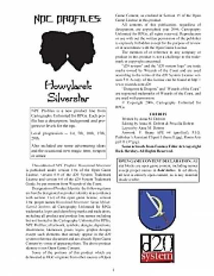 Role Playing Games - NPC Profiles: Howylarek Silverstar