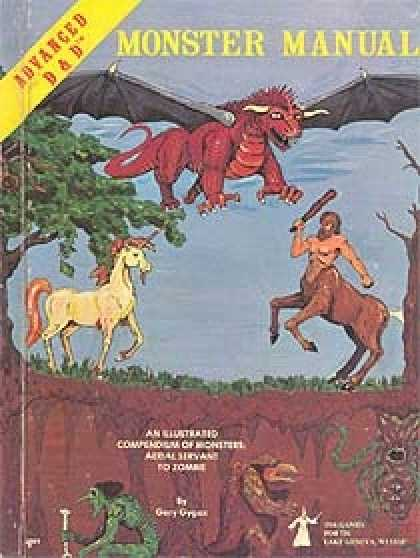 Role Playing Games - 1st Edition AD&D Monster Manual
