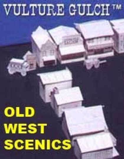 Role Playing Games - Vulture Gulch old west cardstock buildings set