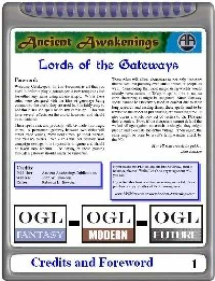 Role Playing Games - Gatekeepers: Lords of the Gateways