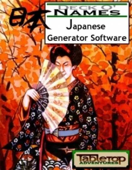 Role Playing Games - Deck O' Names - Japanese Generator