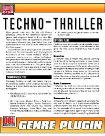 Role Playing Games - Genre Plugin: Techno-Thriller