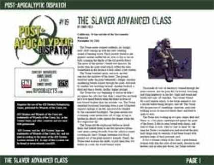 Role Playing Games - Post-Apocalyptic Dispatch (#19): The Slaver Advanced