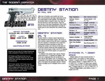 Role Playing Games - Modern Dispatch (#111): Destiny Station