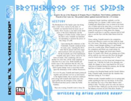 Role Playing Games - Lost Classes: Brotherhood of the Spider