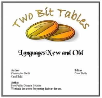 Role Playing Games - Two Bit Tables: Languages New and Old