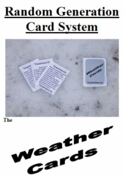 Role Playing Games - Random Generation Card System: The Weather Cards