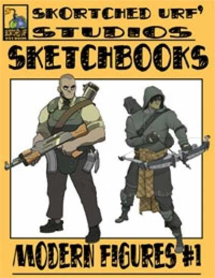 Role Playing Games - Skortched Urf' Studios Sketchbook: Modern figures #1