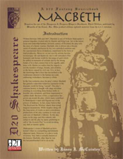 Role Playing Games - D20 Shakespeare: Macbeth