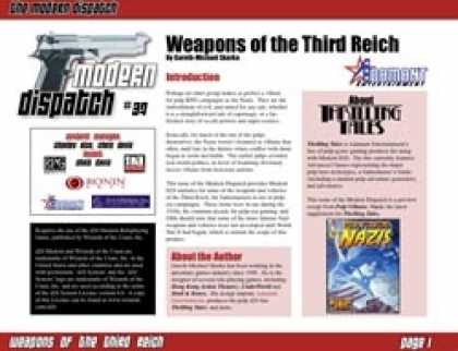 Role Playing Games - Modern Dispatch (#37): Weapons of the Third Reich