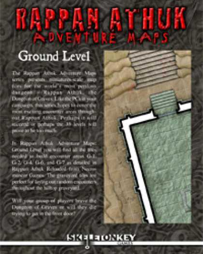 Role Playing Games - Rappan Athuk Adventure Maps: Ground Level