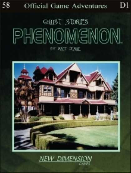 Role Playing Games - Phenomenon: Ghost Stories--Adventure pack D1