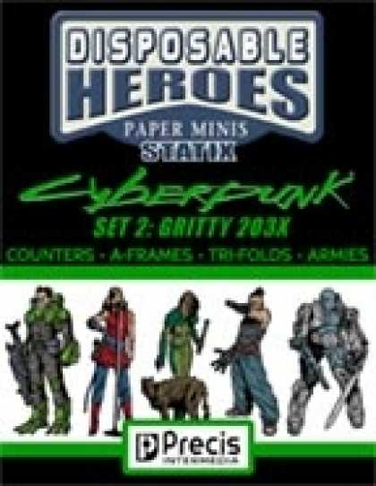 Role Playing Games - Disposable Heroes Cyberpunk Statix 2 (Gritty 203X)