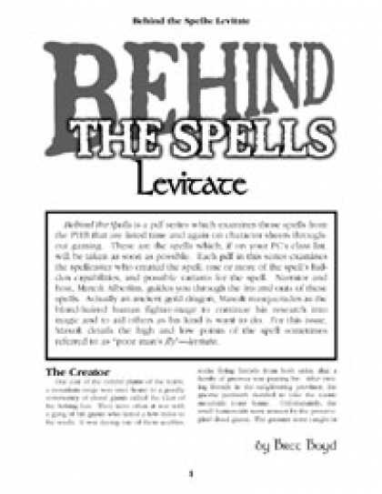 Role Playing Games - Behind the Spells: Levitate