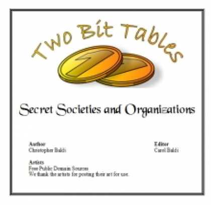 Role Playing Games - Two Bit Tables: Secret Societies and Organizations