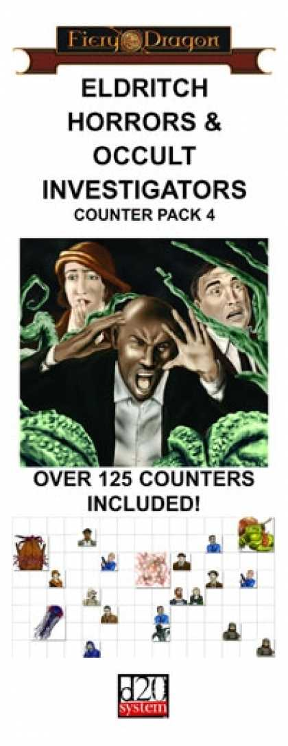 Role Playing Games - Counter Pack 4: Eldritch Horrors & Occult Investigators