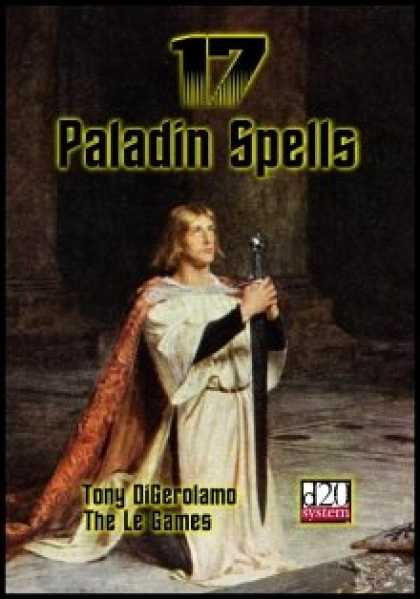 Role Playing Games - 17 Paladin Spells
