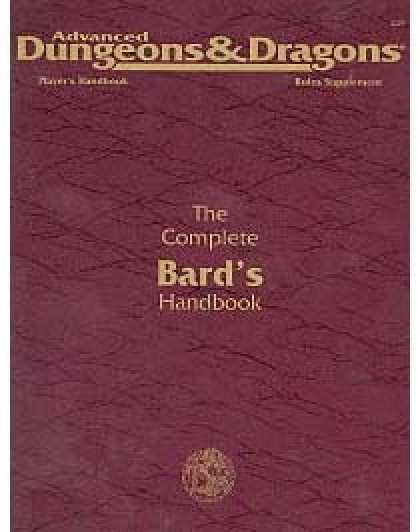 Role Playing Games - The Complete Bard's Handbook