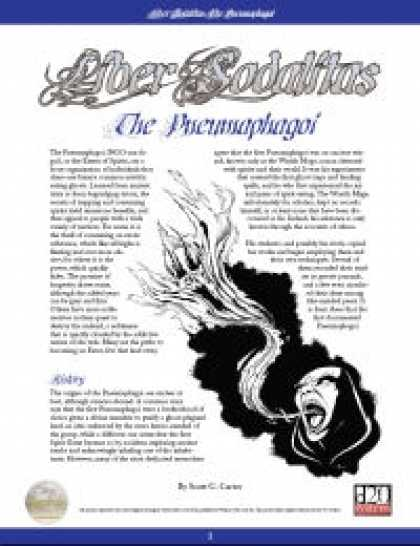 Role Playing Games - Liber Sodalitas: The Pneumaphagoi