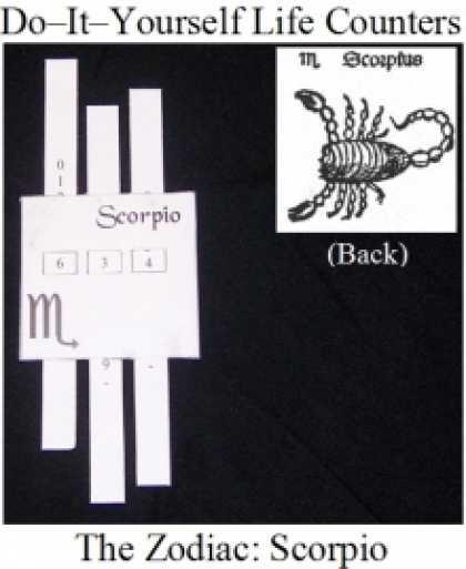 Role Playing Games - Do-it-Yourself Life Counter: Scorpio