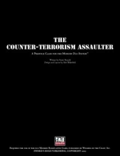 Role Playing Games - Counter-Terrorism Assaulter