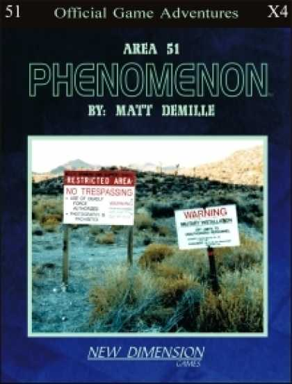 Role Playing Games - Phenomenon: Area 51--Adventure pack X4