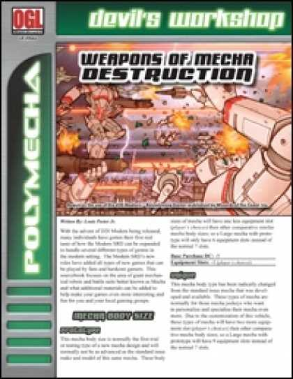Role Playing Games - Weapons of Mecha Destruction