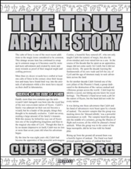 Role Playing Games - The True Arcane Story: Cube of Force