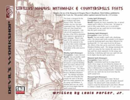 Role Playing Games - Libellus Magnus 1: Metamagic & Counterspells Feats