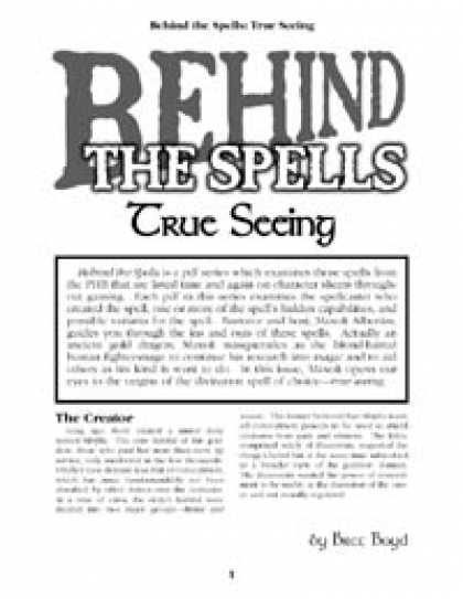 Role Playing Games - Behind the Spells: True Seeing