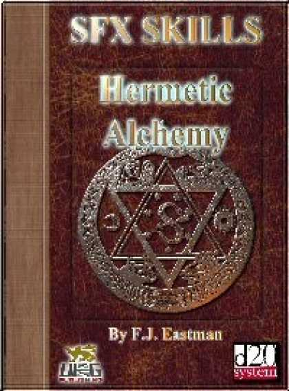 Role Playing Games - SFX Skills: Hermetic Alchemy