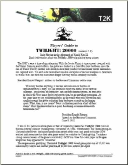 Role Playing Games - DTRPG Guide to Twilight: 2000 version 1.0