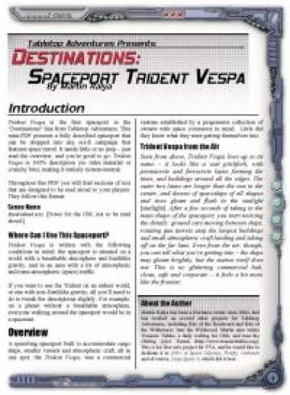 Role Playing Games - Destinations: Spaceport Trident Vespa