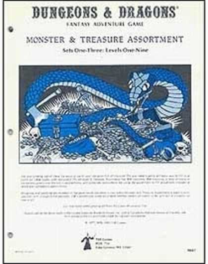 Role Playing Games - D&D Monster & Treasure Assortment Sets One to Three
