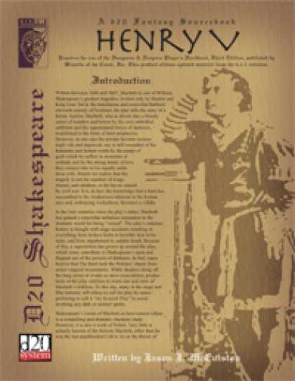 Role Playing Games - D20 Shakespeare: Henry V