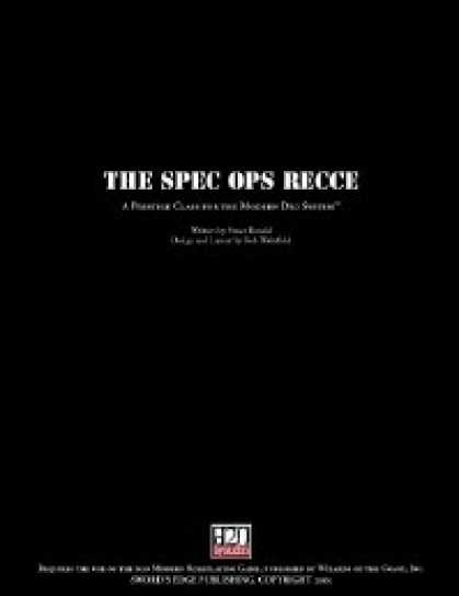 Role Playing Games - Spec Ops Recce