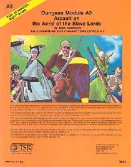 Role Playing Games - A3 - Assault on the Aerie of the Slave Lords