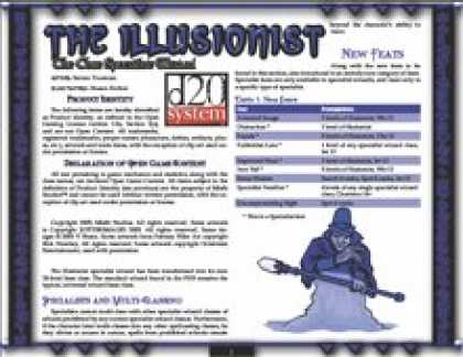 Role Playing Games - The Illusionist: The Core Specialist Wizard