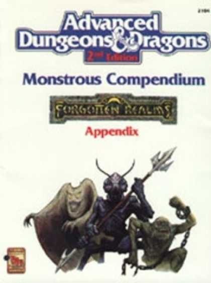 Role Playing Games - Monstrous Compendium Forgotten Realms Appendix