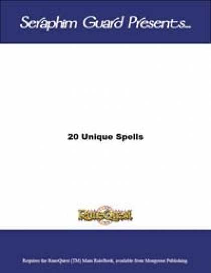 Role Playing Games - 20 Unique Spells (Runequest)